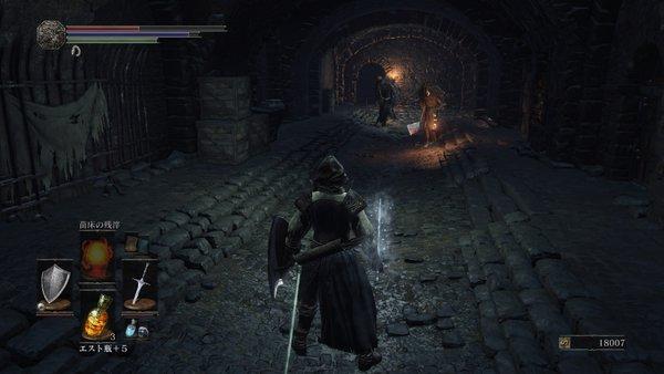 ダークソウル3 イルシールの地下牢_続々と敵が歩いてくる
