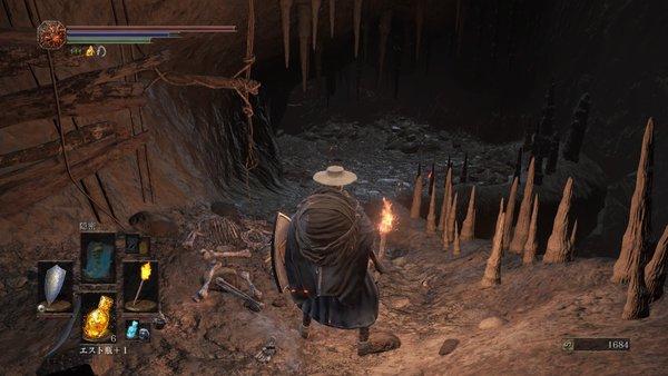 ダークソウル3 カーサスの地下墓_吊り橋から飛び降りた先