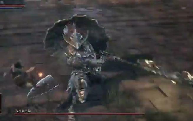 ダークソウル3 竜狩りの鎧_なぎ払い