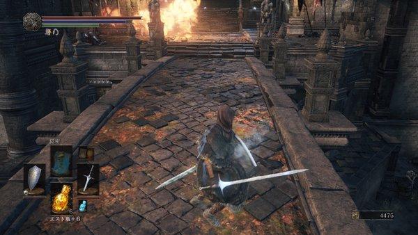 ダークソウル3 ロスリック城_竜の前の橋