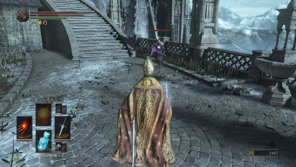 ダークソウル3 アノールロンド_紫の敵