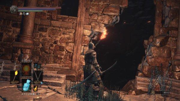 ダークソウル3 罪の都_壁に穴