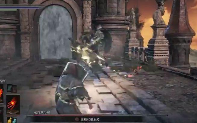 ダークソウル3 竜狩りの鎧_武器両手持ちからの攻撃2