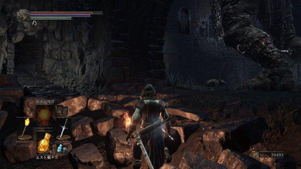 ダークソウル3 イルシールの地下牢_巨人の左