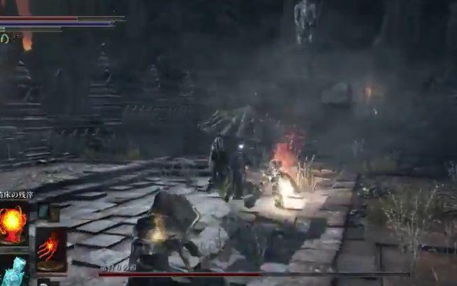ダークソウル3 竜狩りの鎧_武器両手持ちからの攻撃