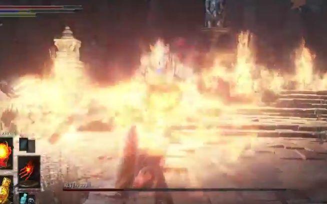 ダークソウル3 竜狩りの鎧_外からの攻撃