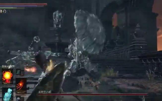 ダークソウル3 竜狩りの鎧_盾で叩きつけ