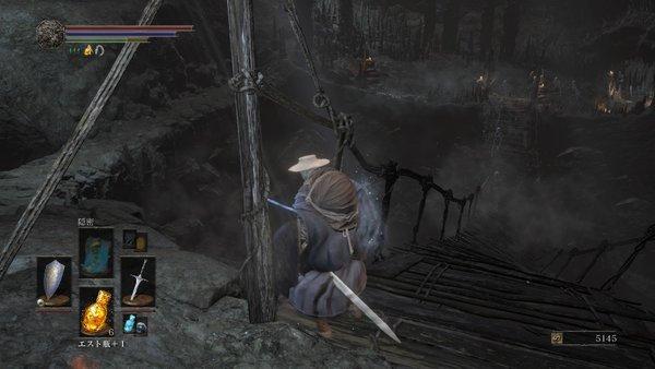 ダークソウル3 カーサスの地下墓_吊り橋を切って一網打尽