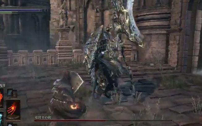 ダークソウル3 竜狩りの鎧_武器両手持ち