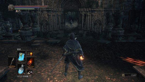 ダークソウル3 妖王の庭_ボス前の騎士