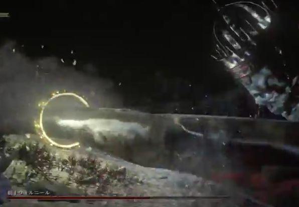 ダークソウル3 覇王ウォルニール手を叩きつける