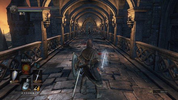 ダークソウル3 ロスリック城_渡り廊下にロスリック騎士