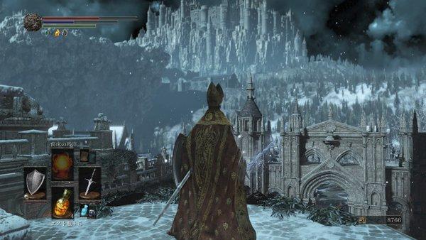 ダークソウル3 冷たい谷のイルシール_綺麗な景色